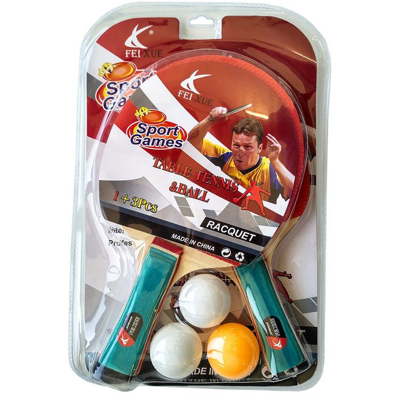 Купить Набор для настольного тенниса (2 ракетки 3 шарика) T07534, NoBrand