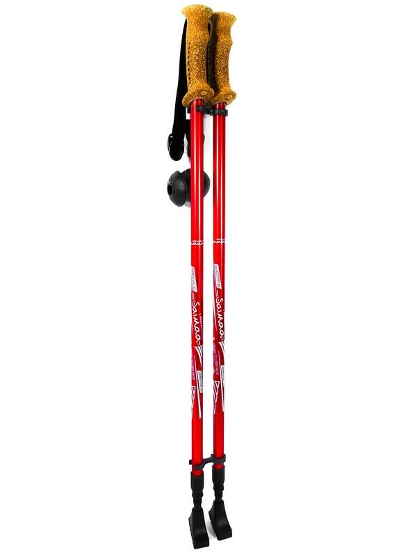 Купить Палки для скандинавской ходьбы Saimaa треккинговые раздвижные 110-135см (резиновые ручки под пробку) SPS-1,
