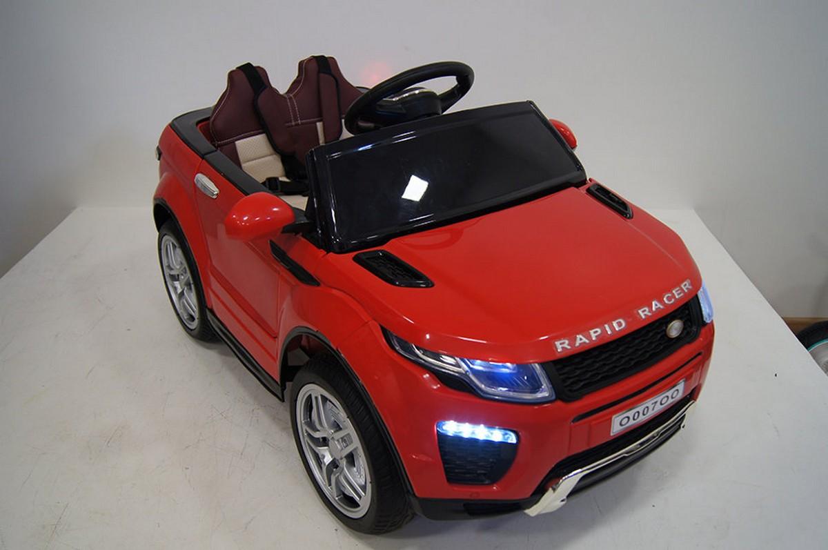 Купить Электромобиль River-Toys Range O007OO VIP красный с ДУ, Детские электромобили