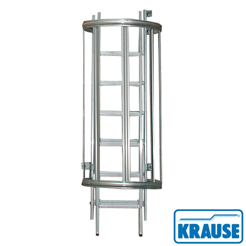 Стационарная аварийная лестница Krause STABILO сталь, 1596 см, с переходами 836465 уголок пластиковый универсальный гибкий 20х20х2700 мм бук натуральный 155