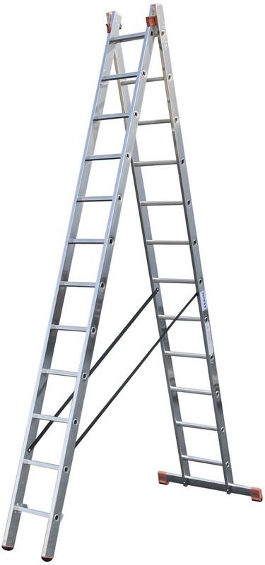 Купить Универсальная лестница Krause MONTO DUBILO 2х12 перекладин, 350-605 см 120588,