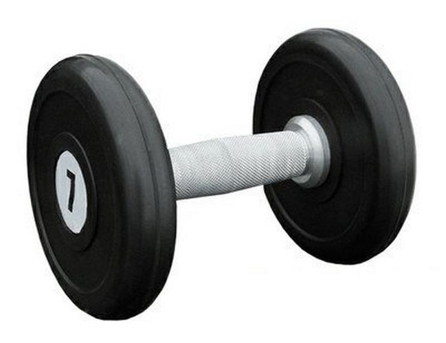 Купить Гантель профессиональная хром/резина 7 кг. Iron King IK 500-7,