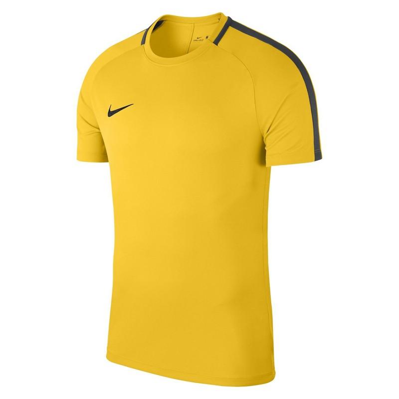 Футболка детская Nike Dry Acdmy18 Top Ss Jr 893750-719 тренировочная, желтая