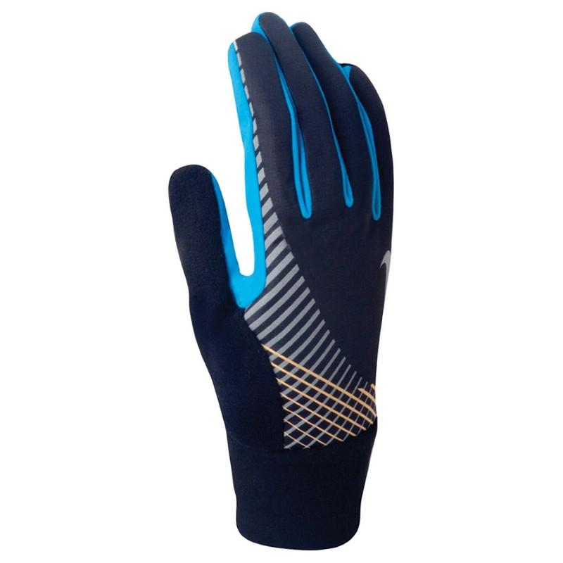 Перчатки для бега Nike Men'S Elite Storm Fit Tech Run Glove Black/Blue Hero/Laser Orange nike перчатки для бега nike n rg 32 046 черный
