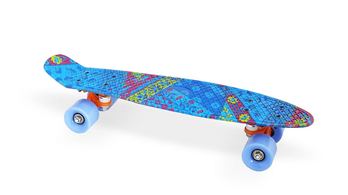 Скейт пластиковый 22х6 quot; Moove Fun PP2206-18 blue скейт пластиковый 22х6 quot moove fun pp2206 1 yellow