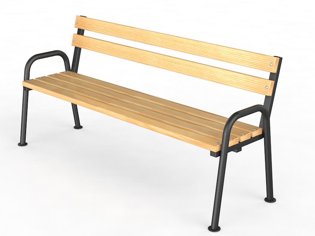 Купить Уличная скамейка со спинкой Стандарт Glav 14.6.3000,