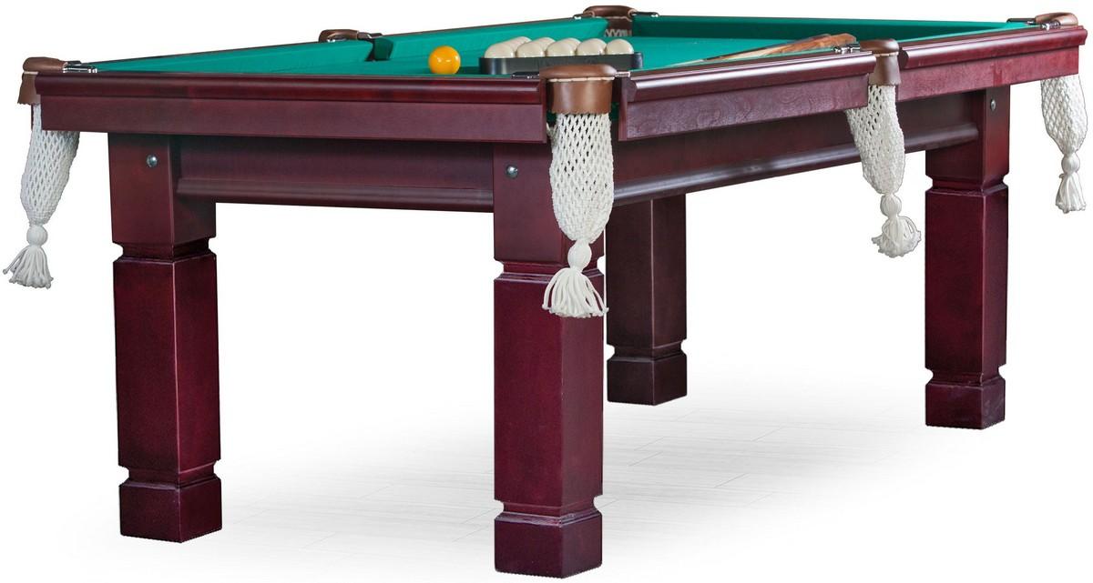 Бильярдный стол для русского бильярда Texas 8 ф (махагон, 4 ноги) ЛДСП FR08 фото