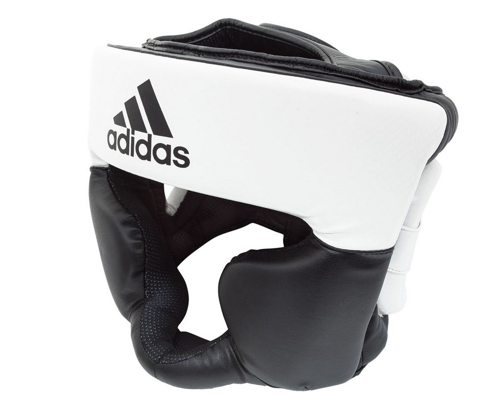 Шлем боксерский Adidas Response Standard Top черно-белый adiBHG024