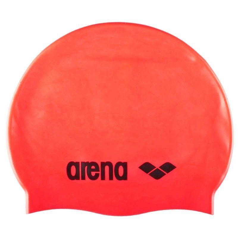 Купить Шапочка для плавания Arena Classic Silicone силикон ярко-красный,
