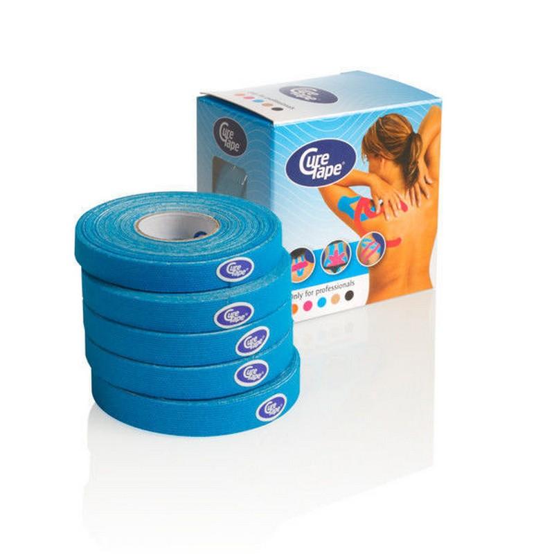 Тейп кинезиологический CureTape Blue 5 шт кинозио тейп классик 5 5 лаймовый