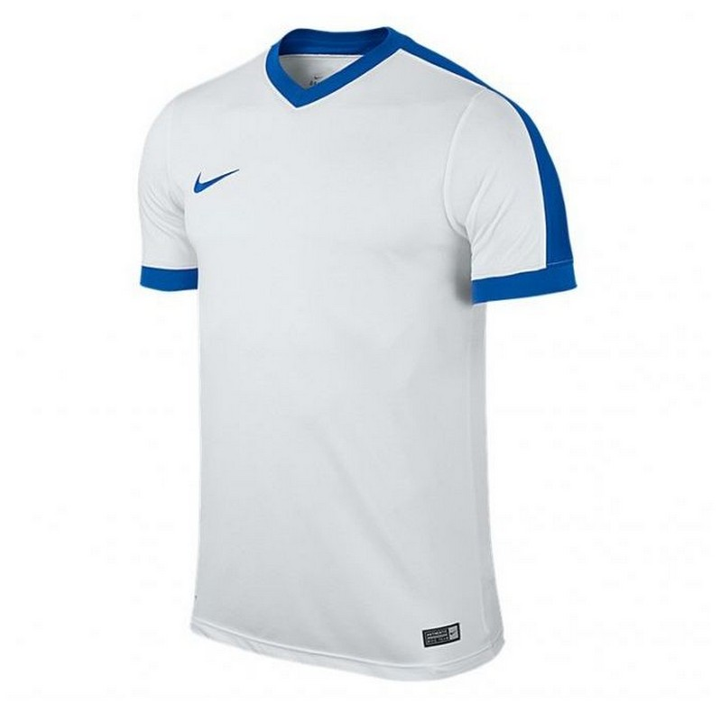 Футболка спортивная Nike Striker IV Jersey SS 725892-100 мужская, бел/син. футболки nike футболка nike ss striker iv jsy 725892 739