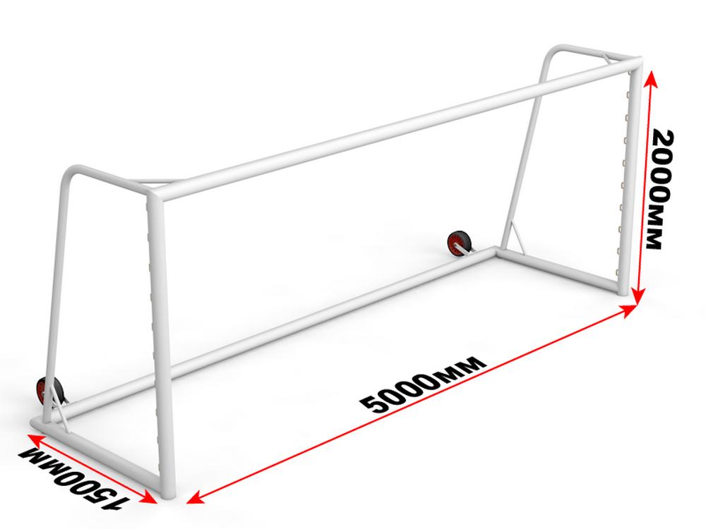 Купить Ворота футбольные с противовесом 2х5м Glav 15.107 шт,
