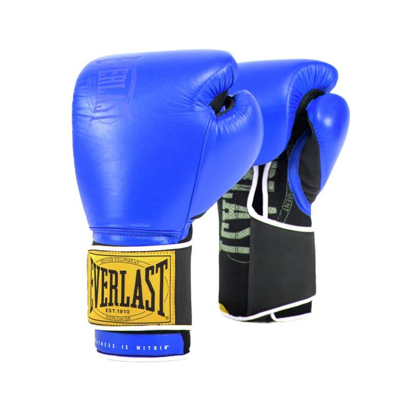 Купить Боксерские перчатки Everlast 1910 Classic 14oz синий P00001715,