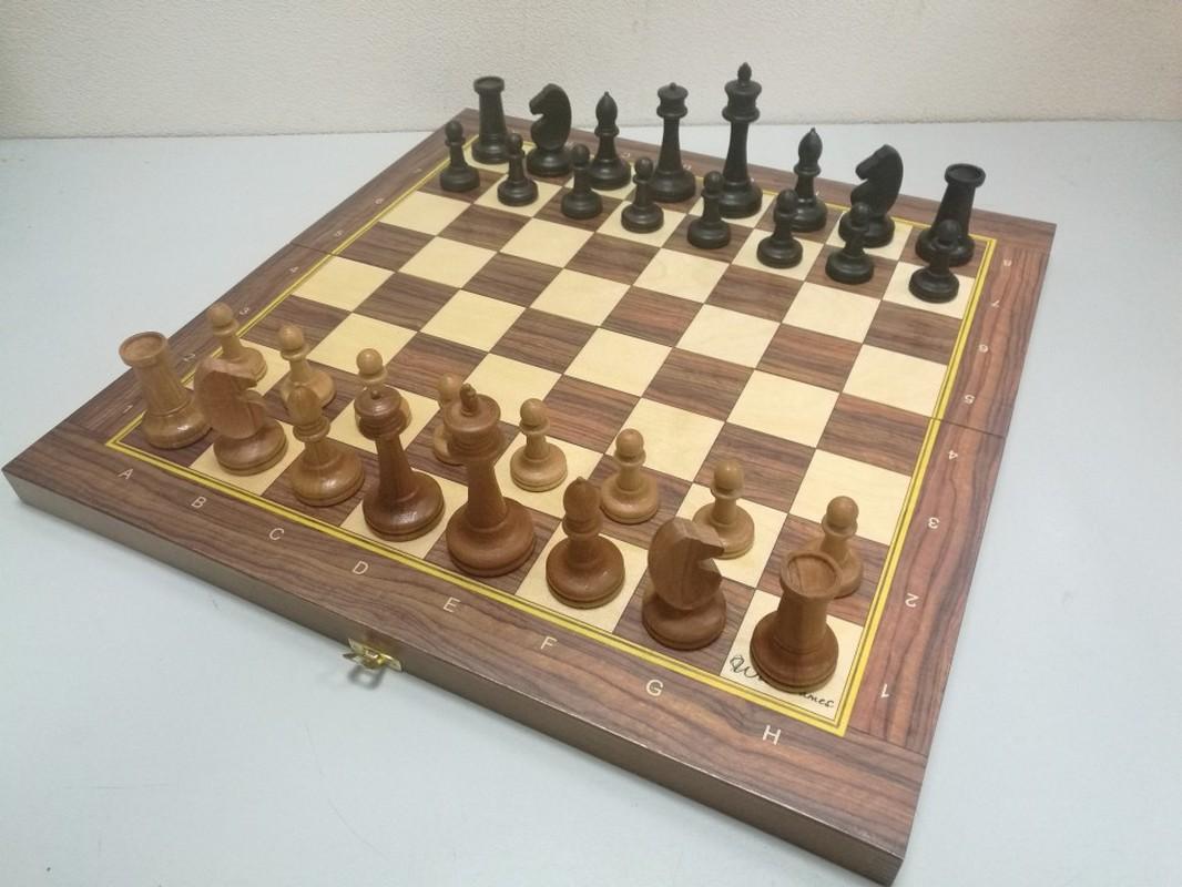 Купить Шахматы турнирные Баталия N7 с утяжелителем cо складной доской 49 см ТШ 22, NoBrand