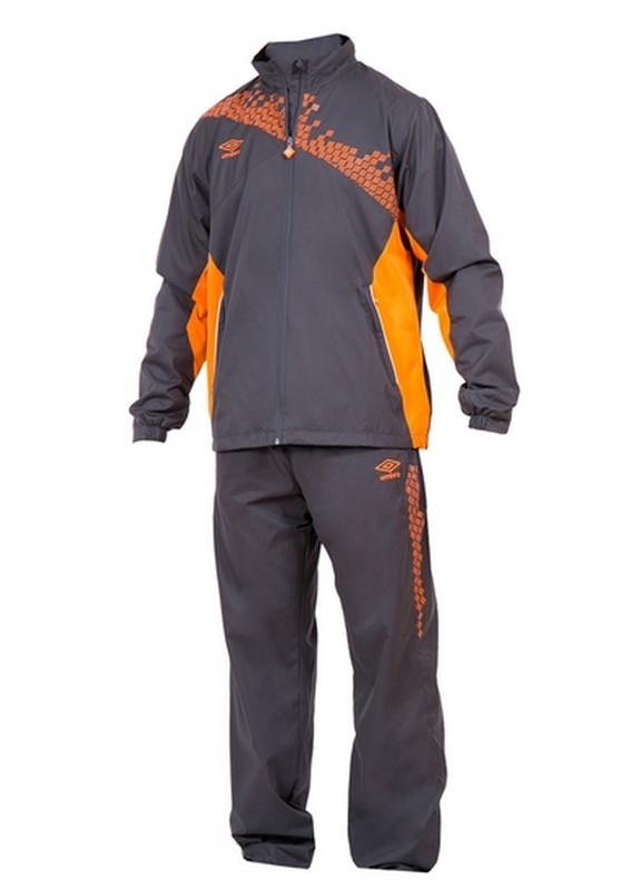 Костюм спортивный Umbro Armada Lined Suit мужской 460115 (8R1) т.серый/оран/бел.