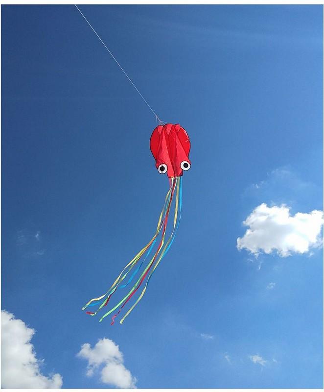 Купить Воздушный змей Bradex Осьминог DE 0439 красный,