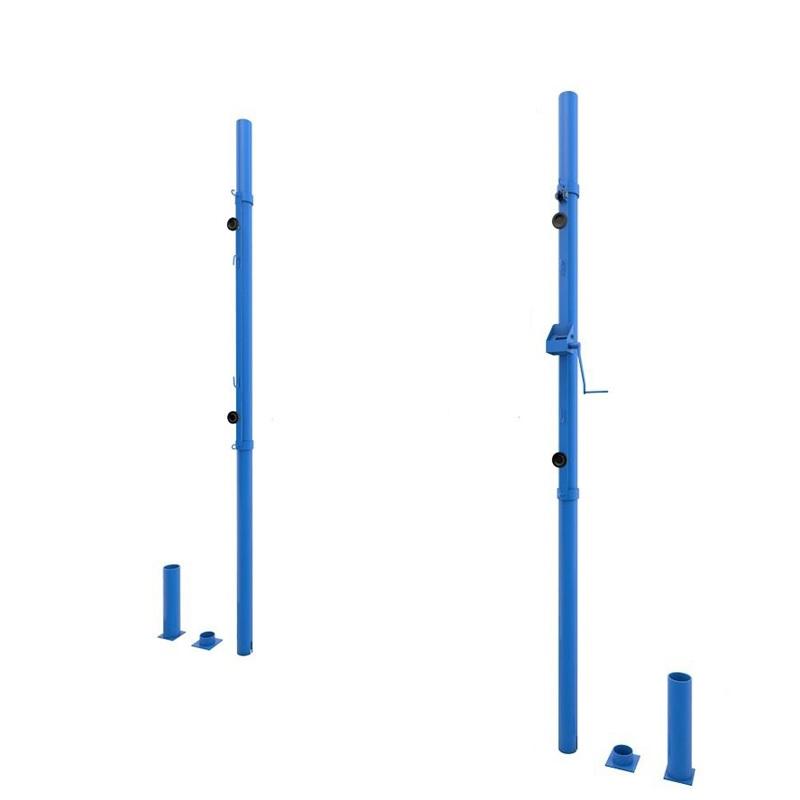 Купить Стойки волейбольные универсальные круглые со стаканами (с системой натяжения) Dinamika ZSO-002779,