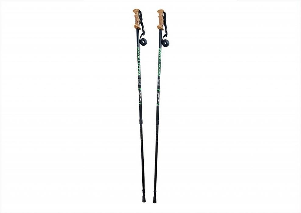 Купить Палки для треккинга Techteam Yeti раздвижные с резиновой ручкой 110-135 см,