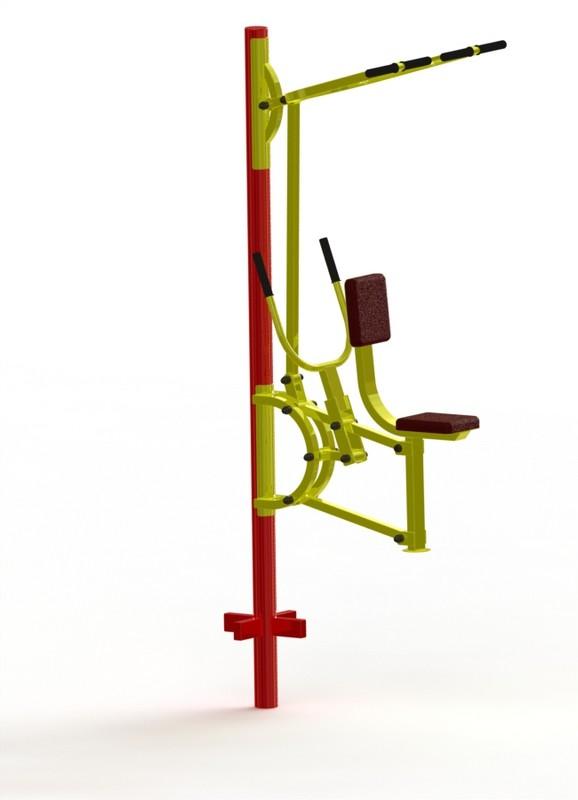 Тяга вертикальная + тяга горизонтальная ProfiGym ТУ-15, Уличные тренажеры для детей  - купить со скидкой
