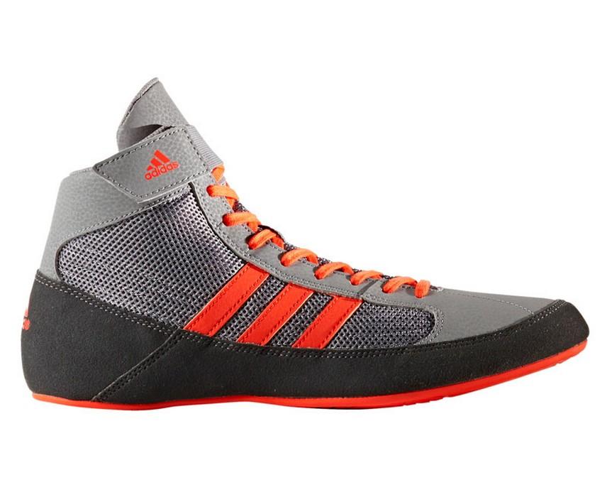 Борцовки Adidas HVC 2 серо-красные CG3802