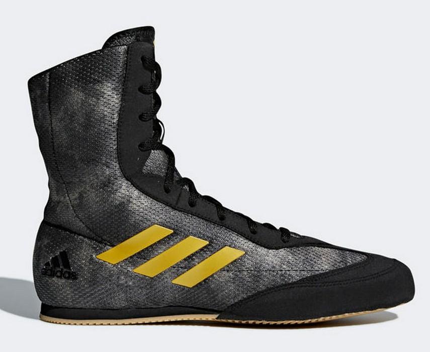 Боксерки Adidas Box Hog Plus серо-желтые DA9897