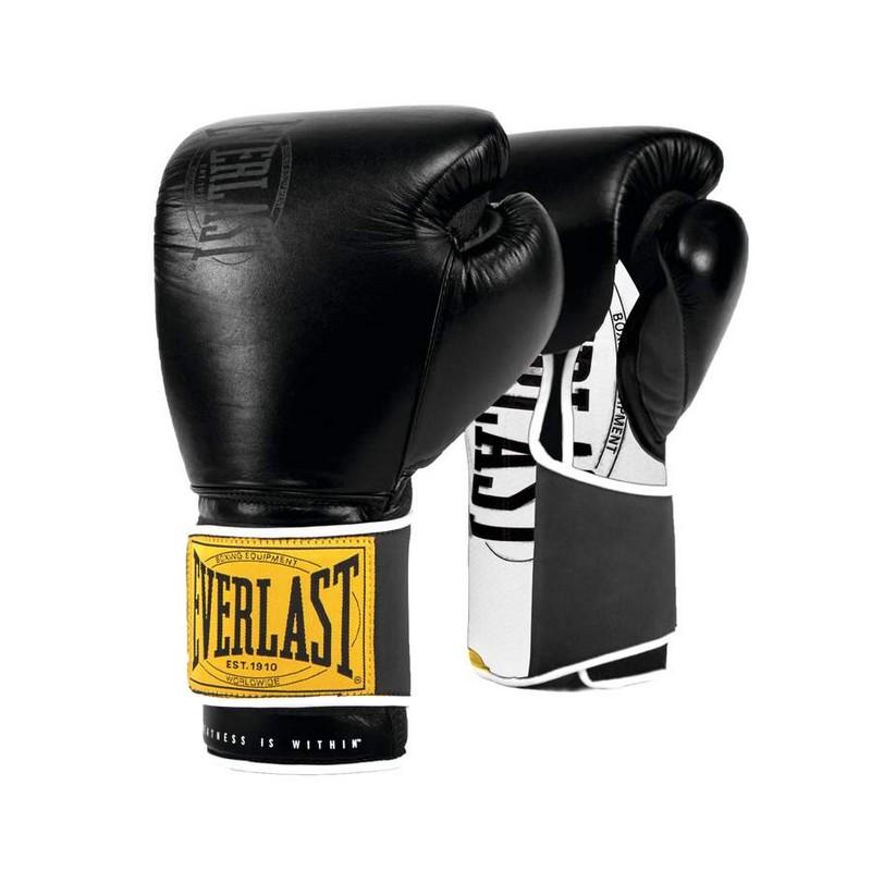 Купить Боксерские перчатки Everlast 1910 Classic 16oz черный P00001713,