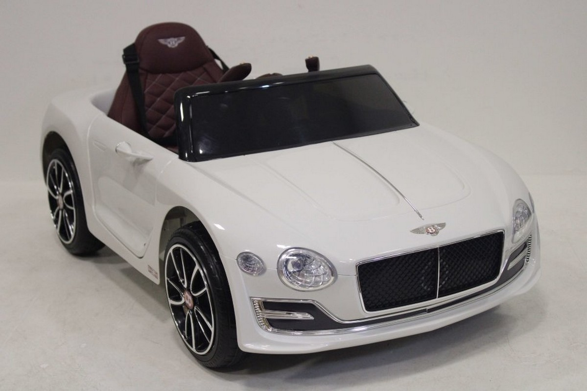 Купить Электромобиль River-Toys Bentley EXP12 белый, Детские электромобили