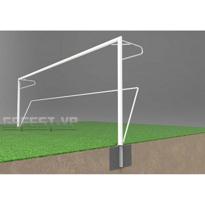 Купить Ворота для футбола, стальные, в стаканах Gefest СС-7103 (732x244) пара,