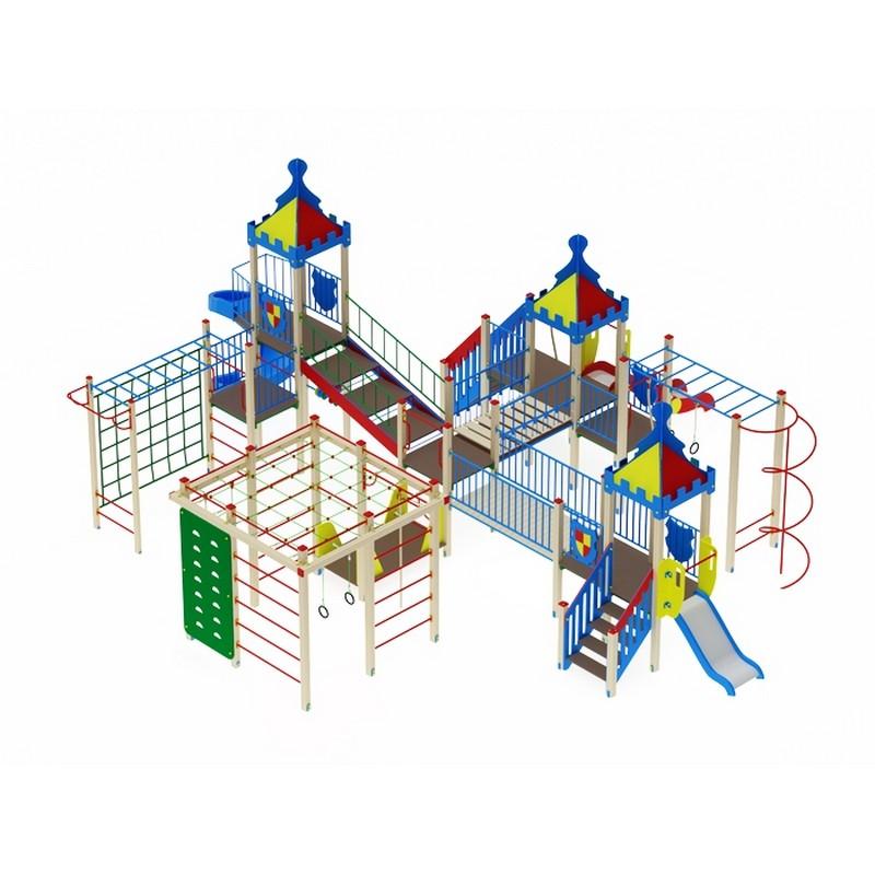 Купить Детский игровой комплекс Волшебныйгород(винтовой скат) МАФ1141х987х470 см ДИК1903, МАФ