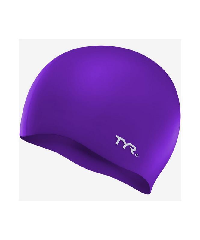 Купить Шапочка для плавания TYR Wrinkle Free Silicone Cap, силикон, LCS/510, фиолетовый,