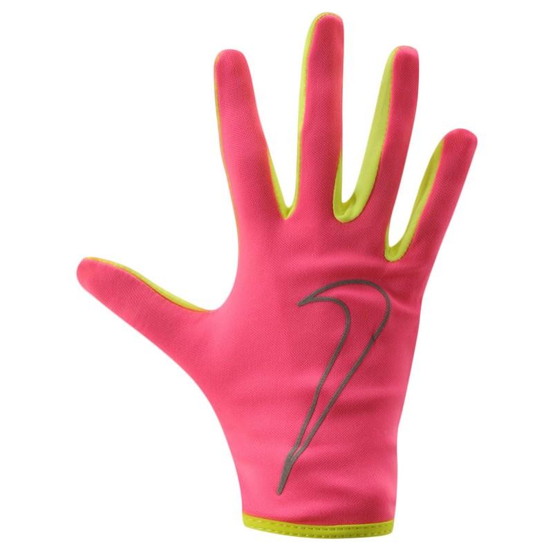 Перчатки для бега Nike Women'S Rally Run Gloves Hyper Pink/Volt nike перчатки для фитнеса женские nike