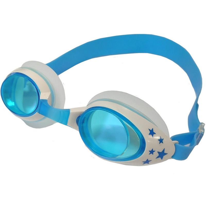 Купить Очки для плавания ТПУ переносица B31523-0 Голубойбелый, NoBrand