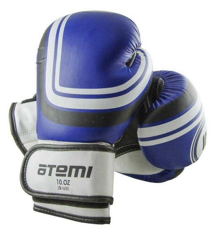 Перчатки боксерские Atemi 12 унций синий LTB-16101 перчатки боксерские green hill dove цвет синий белый вес 10 унций bgd 2050
