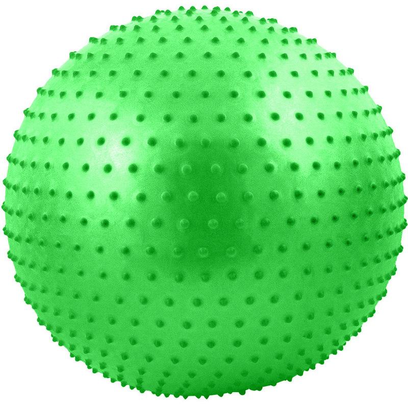 Купить Мяч гимнастический Anti-Burst массажный 55 см FBM-55-3, зеленый, NoBrand
