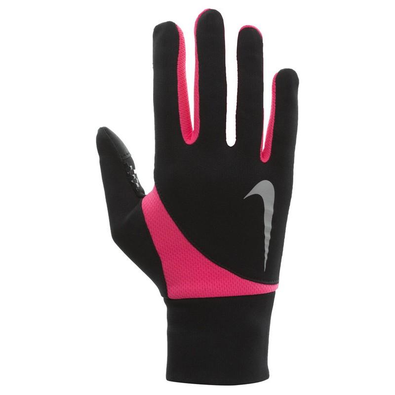 Перчатки для бега Nike Women'S Dri-Fit Tailwind Run Gloves Black/Hyper Pink nike перчатки для фитнеса женские nike