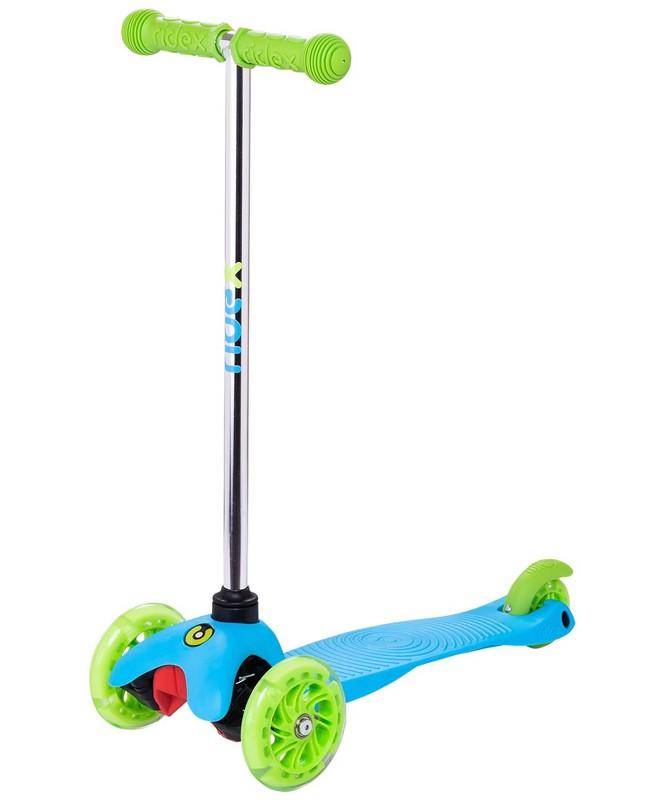 Купить Самокат 3-колесный Ridex Zippy 2.0 3D 120/80 мм, голубой,