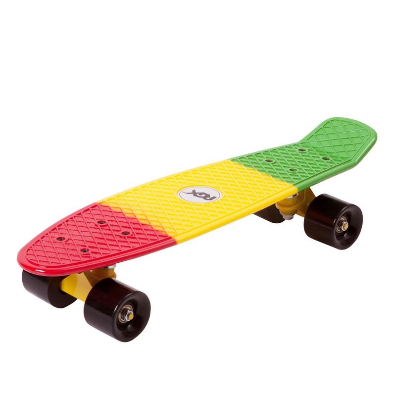 Мини-круизер RGX PNB-05 Green-Yellow-Red скейт мини круизер turbo fb stawberry grass red green white 22 55 9 см