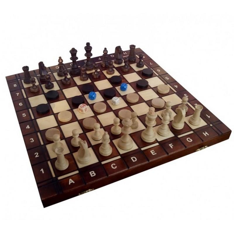 Купить Шахматы+Шашки+Нарды Wegiel Торнамент 4 wi52, NoBrand