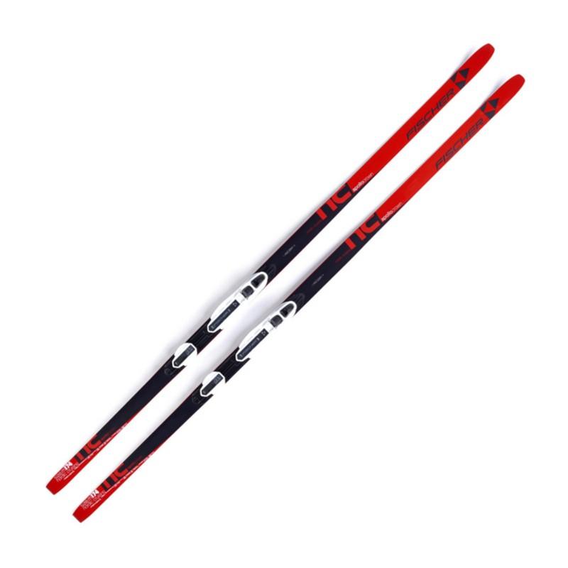 Лыжи беговые Fischer Apollo NIS Step N32116 красныйчерный,  - купить со скидкой