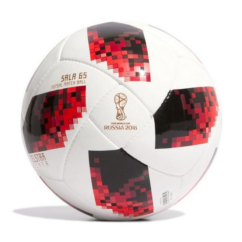 Мяч футзальный Adidas WC2018 Telstar Мечта Sala 65, CW4693 (р.4) профессиональный, бел/крас/черн. мяч футзальный select futsal talento 11 852616 049 р 3