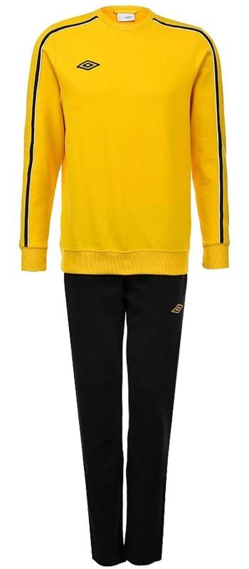 Костюм спортивный Umbro Staduim Training Cotton Suit мужской 350213 (366) жёл/чер.