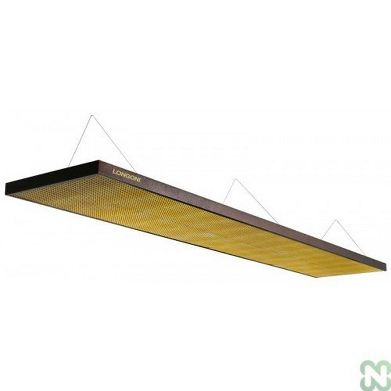 Лампа плоская люминесцентная Norditalia Longoni Magnum (черная, золотистый отражатель, 320х62х6см) 75.320.03.7 постер norditalia gioco carambolo 70х87см