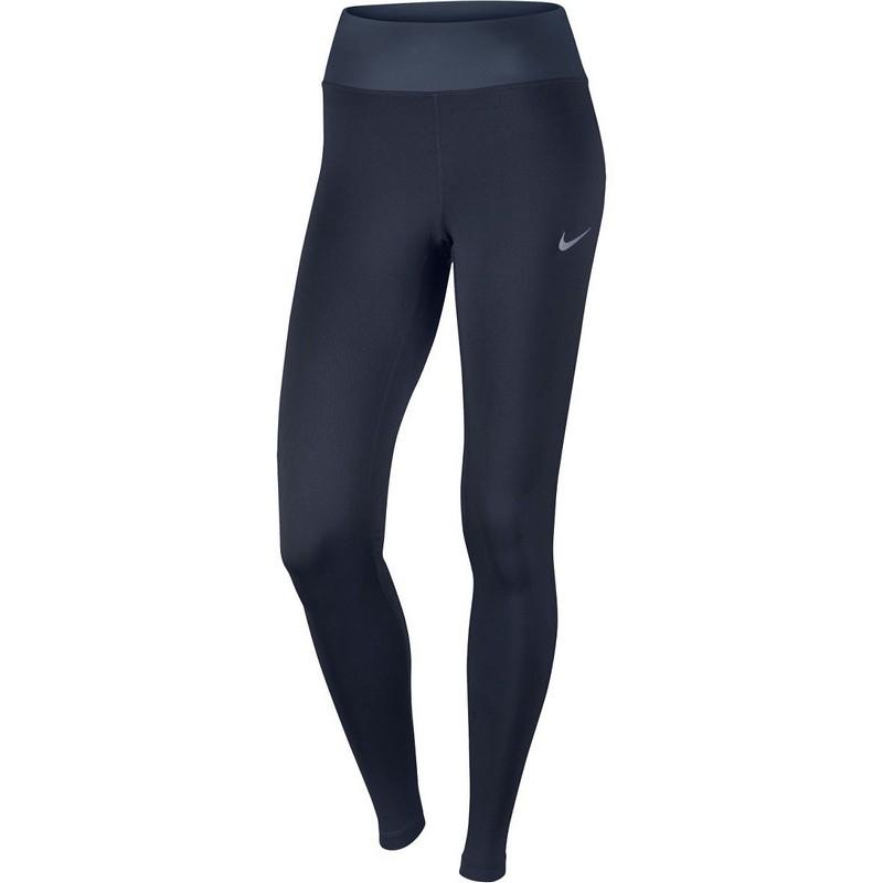 Тайтсы женские Nike Pwr Essntl Tght Df W 831659-451, т.синие тайтсы женские nike pwr tght window panel 890668 010 черные