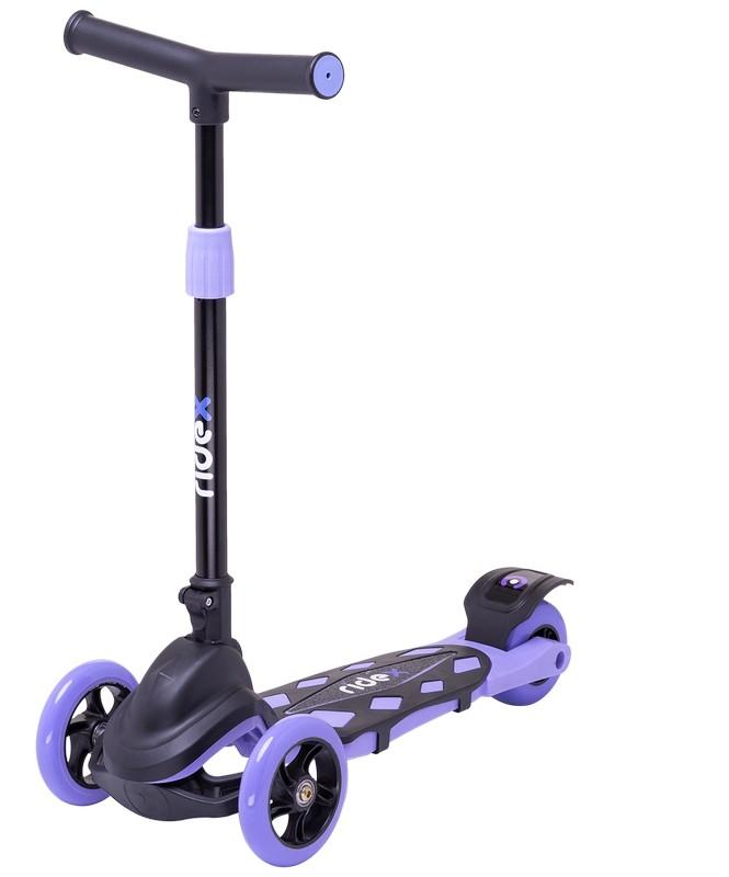 Самокат 3-колесный Ridex Robin 3D 120/90 мм, фиолетовый фото