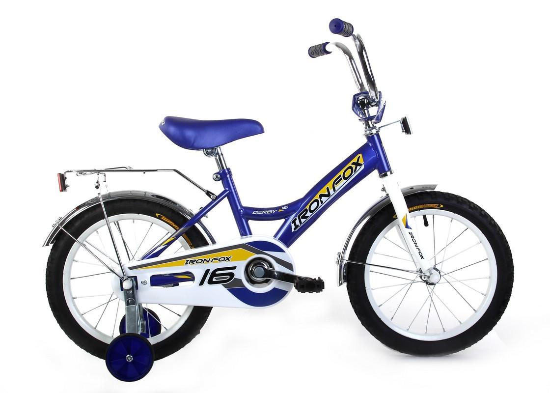 Купить Велосипед детский Iron Fox Derby 16 1ск, (19,16 ) голубойжелтый,