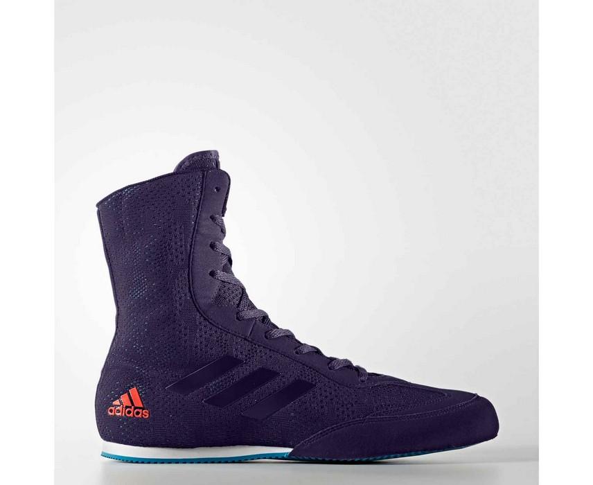 Боксерки Adidas Box Hog Plus сине-оранжевые CG3073