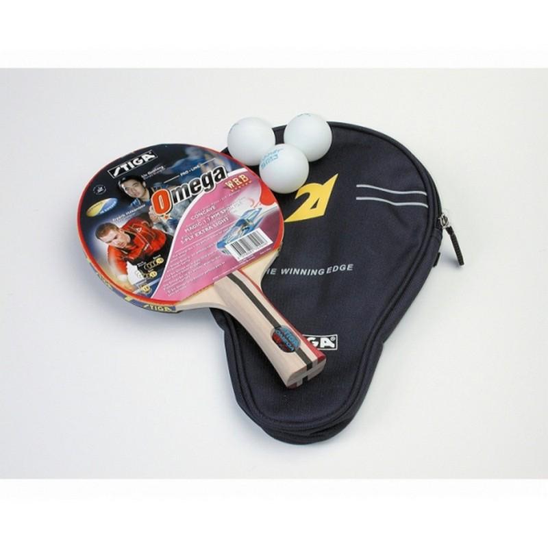 Набор для настольного тенниса Stiga Omega WRB ракетка + 3 мяча + чехол набор для настольного тенниса stiga stream 1 ракетка чехол и 3 мяча