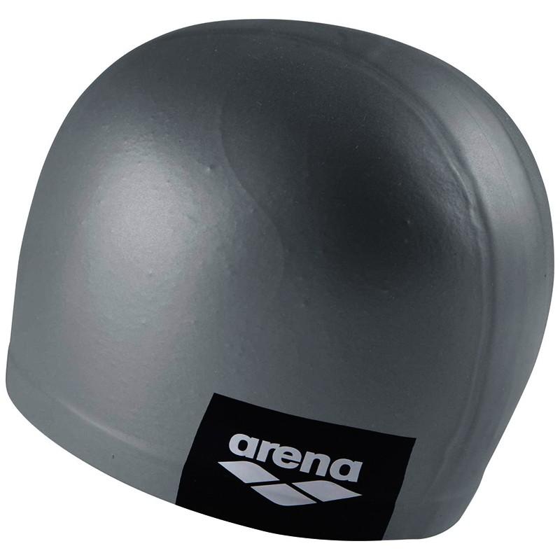 Купить Шапочка для плавания Arena Logo Moulded Cap 001912101-202, серый, силикон,