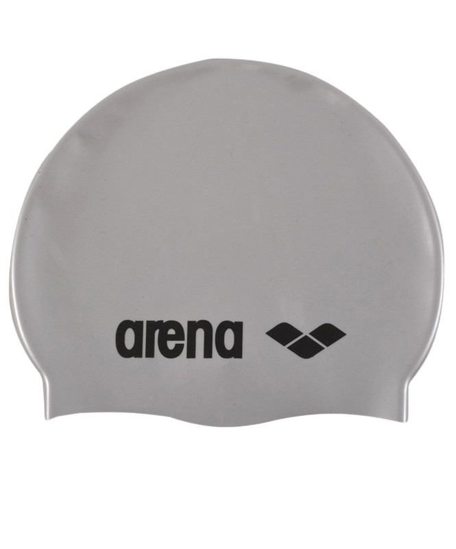 Шапочка для плавания детская Arena Classic Silicone Jr (91670 51) Silver/Black шапочка для плавания arena classic silicone белый