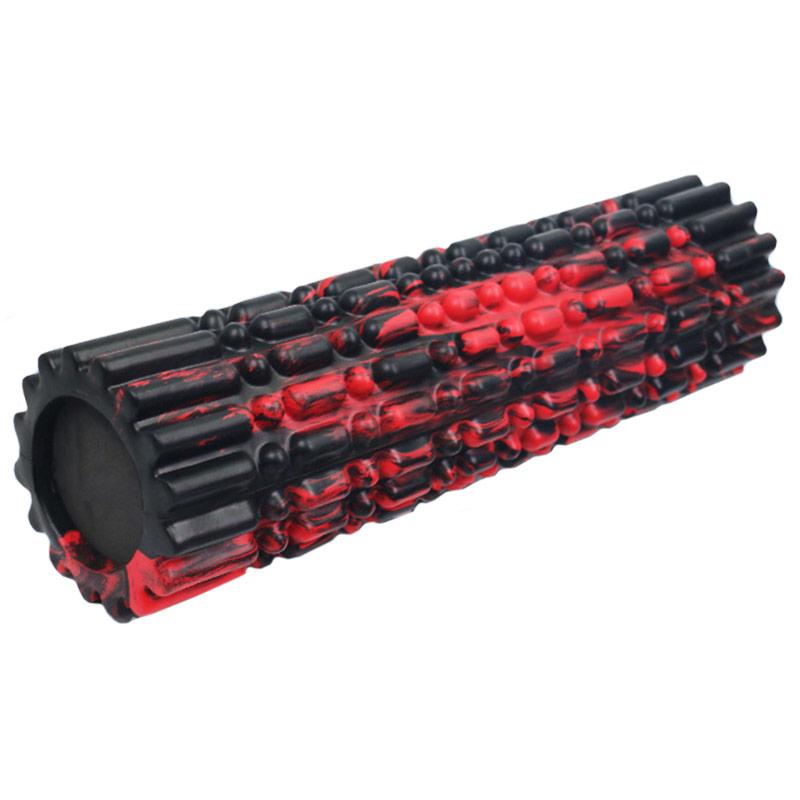 Купить Ролик для йоги полнотелый 45х15см B34514 YGR-5 черный мультиколор, NoBrand